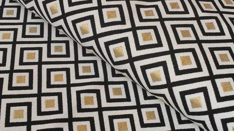 Baumwoll-Mischgewebestoff natur Leinenoptik: Art Deco - 140 cm kaufen im Makerist Materialshop