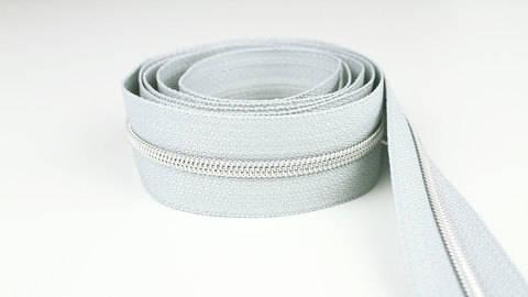 Endlosreißverschluss: silber-grau - 4 mm  kaufen im Makerist Materialshop