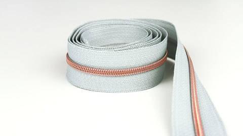 Endlosreißverschluss: kupfer-grau - 4 mm  kaufen im Makerist Materialshop
