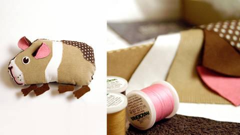 Schmittchen das Meerschweinchen - Kuscheltier Komplettbox von Knuschels kaufen im Makerist Materialshop