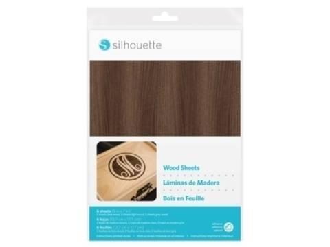 Holzpapier-Set selbstklebend von Silhouette 12,7cm x 17,8 cm kaufen im Makerist Materialshop
