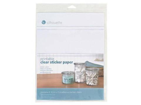 Bedruckbare klare Folie für Aufkleber - 21,6 cm x 27,9 cm kaufen im Makerist Materialshop