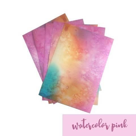 Feuille vinyle mat pour plotter : Aquarelle - rose dans la mercerie Makerist
