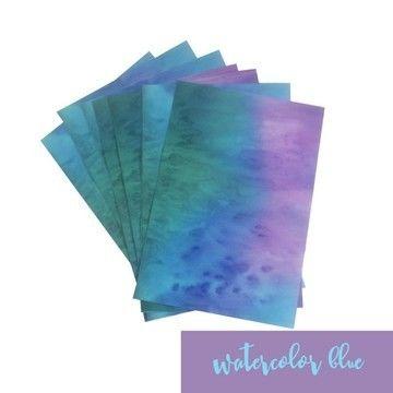 Acheter Feuille vinyle mat pour plotter : Aquarelle - bleu - Plotters et accessoires dans la mercerie Makerist
