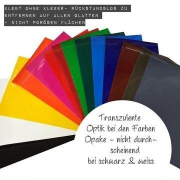 Adhäsionsfolie - 20 cm x 30 cm - Plotter und Folien kaufen im Makerist Materialshop