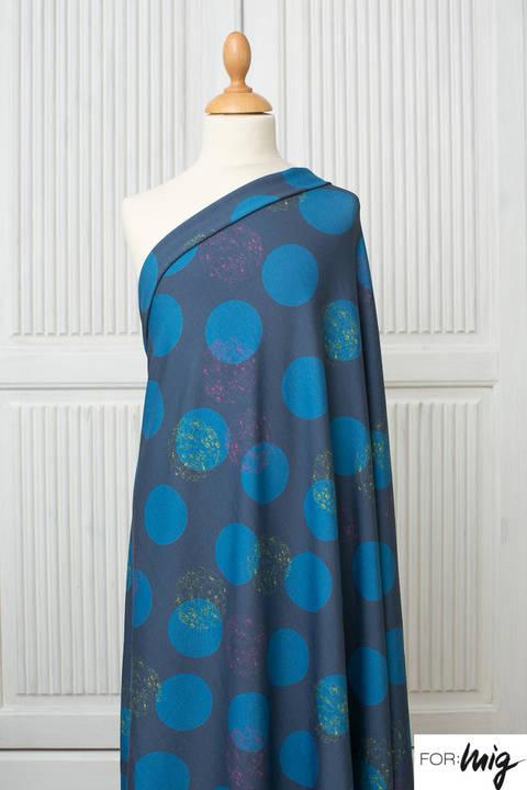 Lillestoff Modalstoff blau: Floral Dots - 150 cm kaufen im Makerist Materialshop