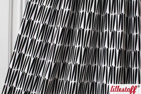 Lillestoff Bio-Summersweat schwarz-weiß: Jördis - 160 cm kaufen im Makerist Materialshop