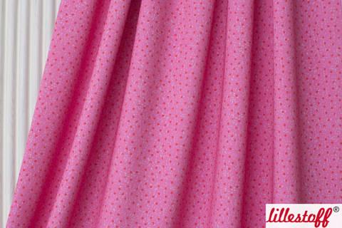 Lillestoff Bio-Jersey pink-rot: Wichtelpunkte - 160 cm kaufen im Makerist Materialshop