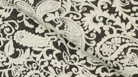 Jacquard-Jersey dunkelgrau: Blumenstickerei - 150 cm kaufen im Makerist Materialshop