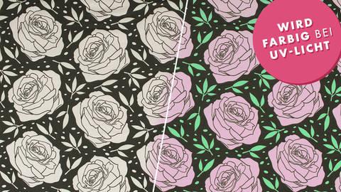 Baumwolljersey dunkelgrau-weiß: Farbwechsel Rose - 160 cm im Makerist Materialshop