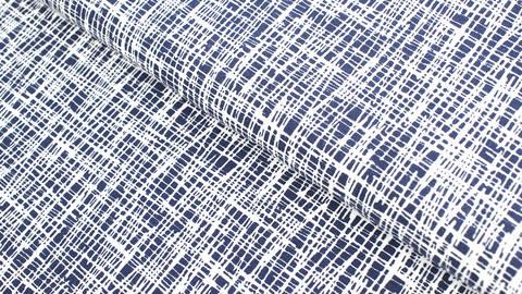 Baumwolljersey dunkelblau-weiß: Criss-Cross - 160 cm kaufen im Makerist Materialshop