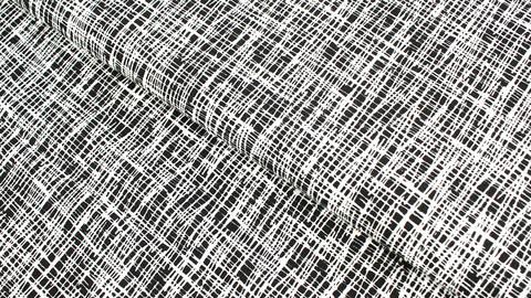 Baumwolljersey schwarz-weiß: Criss-Cross - 160 cm kaufen im Makerist Materialshop
