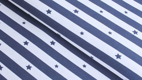Baumwolljersey navy-weiß: Stars and Stripes - 145 cm kaufen im Makerist Materialshop