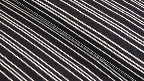 Acheter Jersey Jacquard blanc & bleu marine: rayures - 158 cm dans la mercerie Makerist