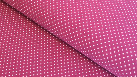 Acheter Jersey de coton fuchsia: Verena à pois - 160cm dans la mercerie Makerist