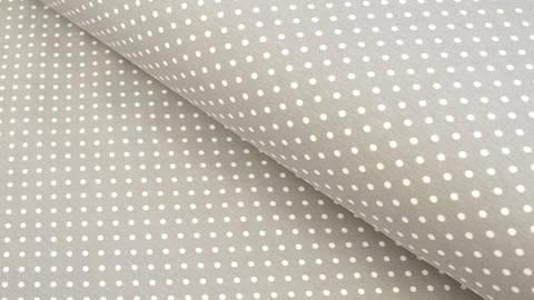 Baumwolljersey grau: Verena Tupfen - 160 cm kaufen im Makerist Materialshop
