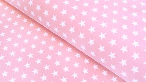 Acheter Jersey de coton rose clair à étoiles: Verena - 160cm dans la mercerie Makerist