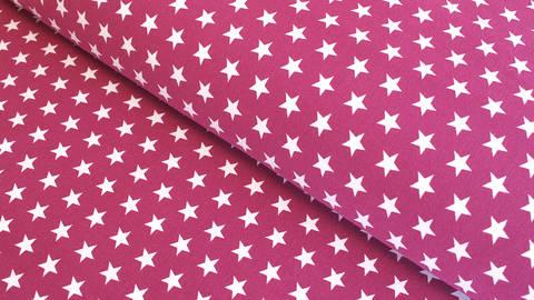 Acheter Jersey de coton fuchsia à étoiles: Verena - 160cm dans la mercerie Makerist