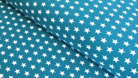 Acheter Jersey de coton bleu pétrole à étoiles: Verena - 160cm dans la mercerie Makerist