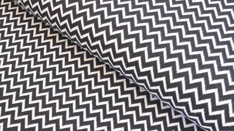 Bündchenstoff Chevron schwarz-weiß: Karla - 100 cm  kaufen im Makerist Materialshop