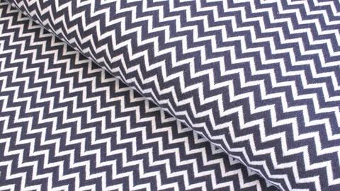 Bündchenstoff Chevron dunkelblau-weiß: Karla - 100 cm  kaufen im Makerist Materialshop