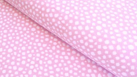 Bündchenstoff Punkte rosa-weiß: Karla - 100 cm  kaufen im Makerist Materialshop