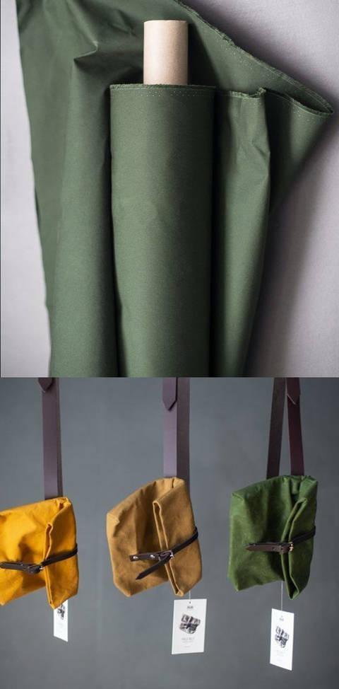 Gewachste Baumwolle matt dunkelgrün: Dry Oilskin - 150 cm kaufen im Makerist Materialshop