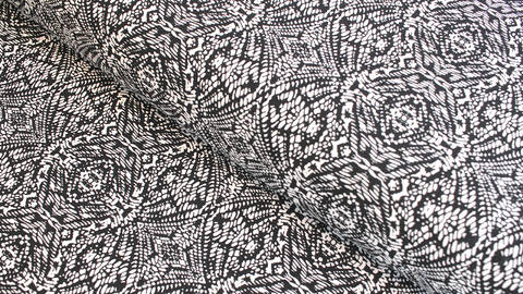 Baumwolljersey Vera schwarz-weiß: Netz - 160 cm  im Makerist Materialshop