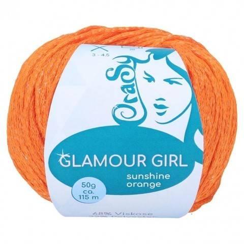 Cablé-Garn sunshine orange CraSy Wolle ca. 115 m 50 g kaufen im Makerist Materialshop