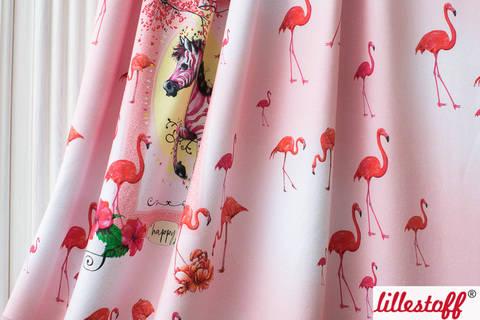 Lillestoff Rapport Bio-Jersey rosa: Happy - 160 cm kaufen im Makerist Materialshop