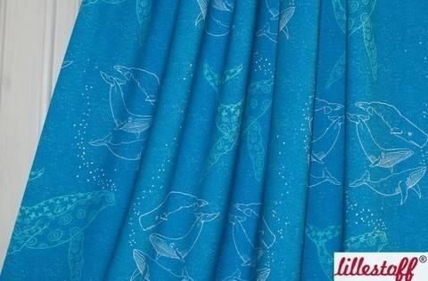 Lillestoff Bio-Jersey blau: Das Lied der Wale - 160 cm kaufen im Makerist Materialshop