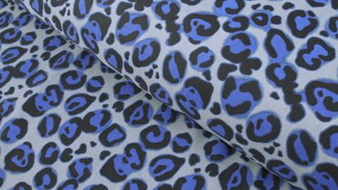 Bademodenstoff grau-blau: Blauer Leopard - 155 cm kaufen im Makerist Materialshop