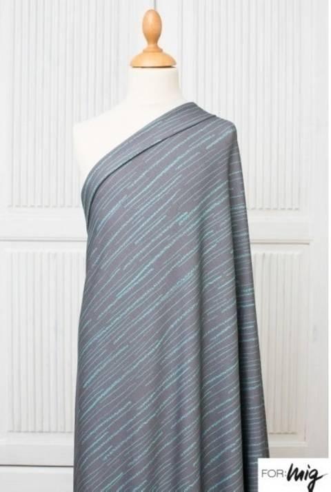 Lillestoff Modalstoff grau mint: Streifen - 150 cm kaufen im Makerist Materialshop
