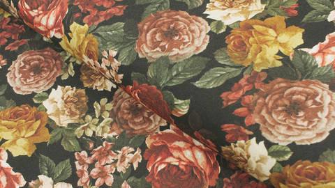 Viskosestoff schwarz: Rosen - 140 cm kaufen im Makerist Materialshop