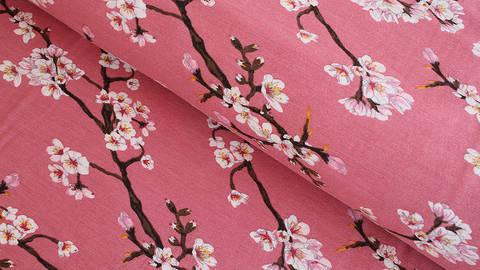 Modalstoff altrosa: Kirschblüten - 150 cm kaufen im Makerist Materialshop