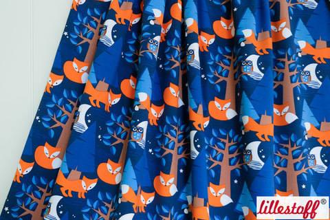 Lillestoff Bio-Jersey blau: Nightfox - 150 cm kaufen im Makerist Materialshop