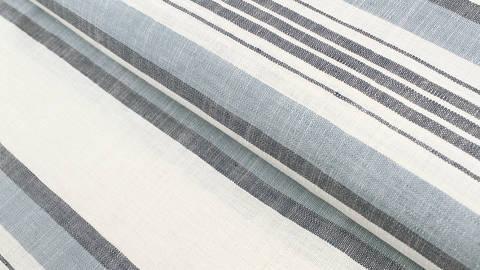 Leinen-Baumwollstoff blau-weiß: Streifen - 150 cm kaufen im Makerist Materialshop