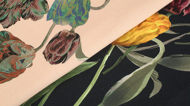 Baumwolljersey: Tulpenstrauß - 150 cm - Stoffe kaufen im Makerist Materialshop