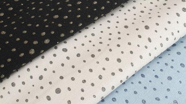 Baumwolljersey: Glitzer Pünktchen - 150 cm - Stoffe kaufen im Makerist Materialshop
