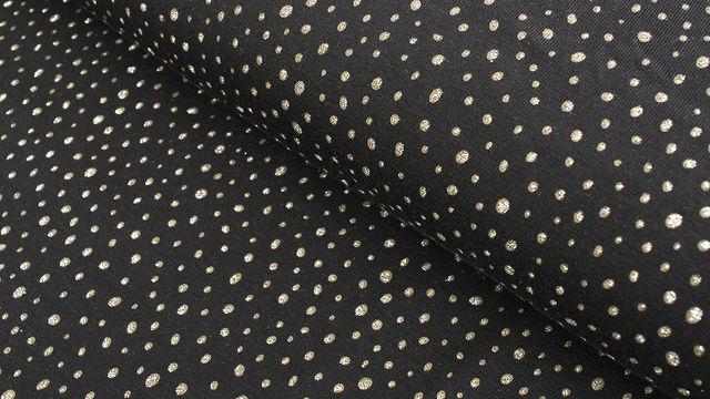 Baumwolljersey schwarz: Glitzer Pünktchen - 150 cm - Stoffe kaufen im Makerist Materialshop