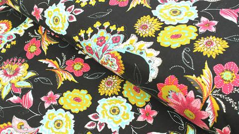 Viskosestoff schwarz: Rosella - 140 cm kaufen im Makerist Materialshop