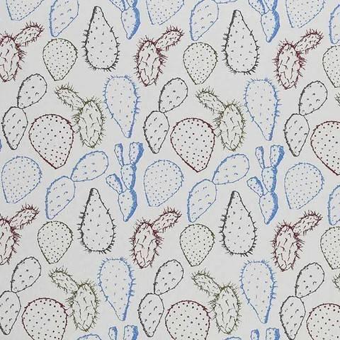 Baumwolljersey blau: Cactus - 150 cm kaufen im Makerist Materialshop