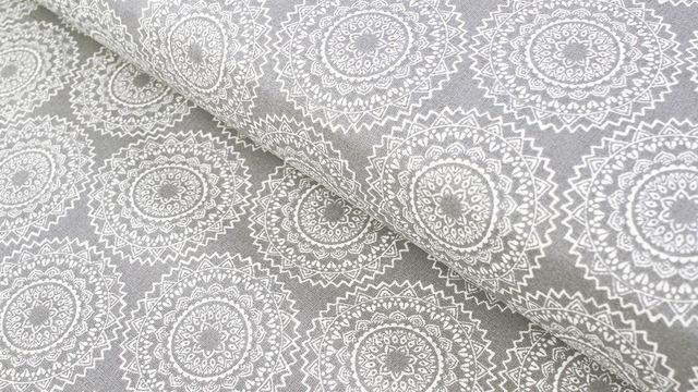 Baumwollstoff grau: Mandala - 140 cm - Stoffe kaufen im Makerist Materialshop