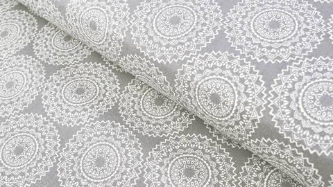 Baumwollstoff grau: Mandala - 140 cm kaufen im Makerist Materialshop