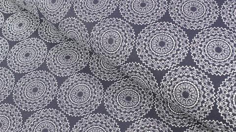 Baumwollstoff dunkelblau: Mandala - 140 cm kaufen im Makerist Materialshop