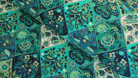 Baumwollstoff grün-türkis: Provence - 160 cm kaufen im Makerist Materialshop