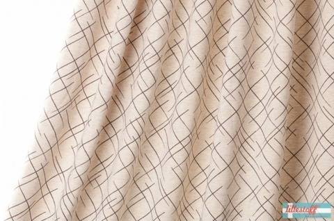 Lillestoff Bio-Jersey meliert sand-braun: Cross The Lines - 160 cm kaufen im Makerist Materialshop