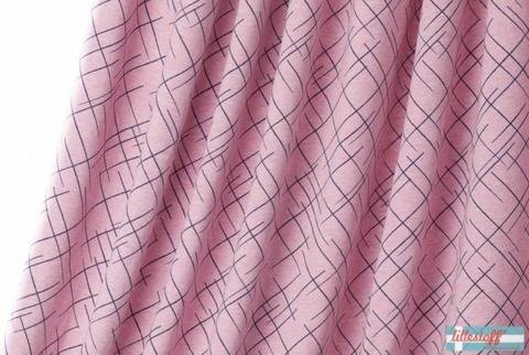 Lillestoff Bio-Jersey meliert rosa-blau: Cross the Lines - 160 cm kaufen im Makerist Materialshop