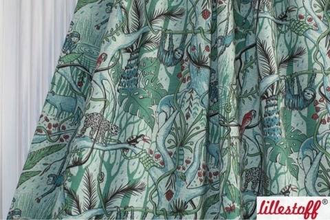 Lillestoff Bio-Jersey meliert grün-türkis: Dschungel - 160 cm kaufen im Makerist Materialshop