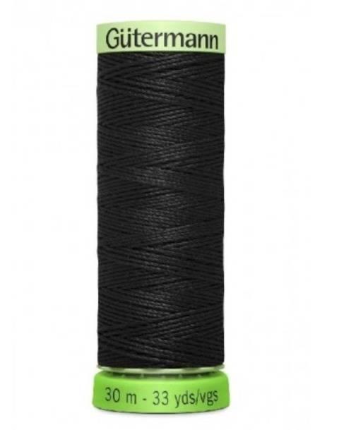 Recycelter Zierstichfaden: rPET - 30 m - 0000 schwarz kaufen im Makerist Materialshop
